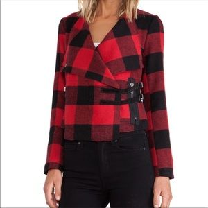 BB Dakota Plaid flannel red and Black jacket